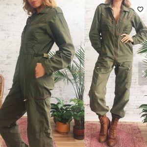 Other - Vintage 1970's Military Jumpsuit - MEDIUM